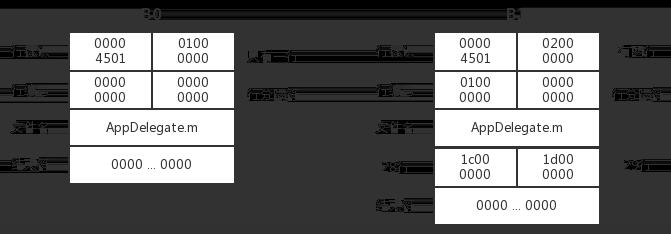 图6 B0,B1 对应行信息