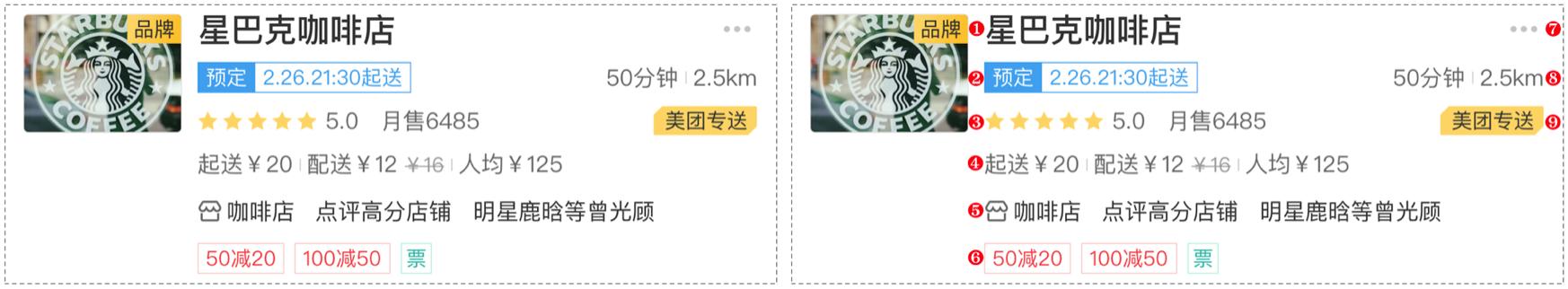 图6 外卖 App 商家卡片